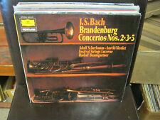 J.S. BACH Brandenburg Concertos 2 3 5 LP DGG Scherbaum