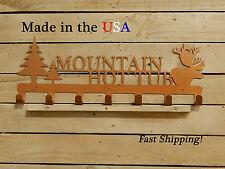 Name Sign Coat/Towel Rack-Elk Decor-Caribou Decor-Rustic Art-Cr1081