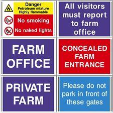 FARMING WORKPLACE DANGER HAZARD HEALTH & SAFETY SIGNS WATERPROOF COSHH HACCP