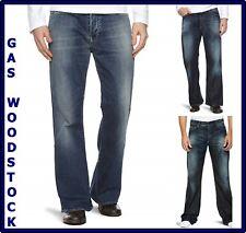 jeans gas da uomo pantaloni denim woodstock a zampa svasati bootcut w28 29 30 31