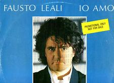 "FAUSTO LEALI MIX 12"" 45 giri.NOTTE D'AMORE Loredana Berte MADE in ITALY Promo"