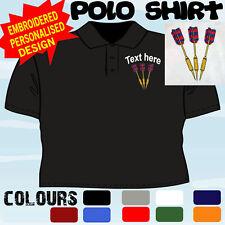 Personalizzato ricamato Freccette Design Giocatore Di Squadra Club T Camicia Polo