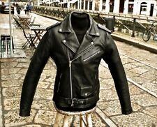 Giubbotto giacca chiodo pelle Guendj marlon brando rock stile moto perfecto