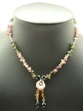 Pink & Green Tourmaline Necklace