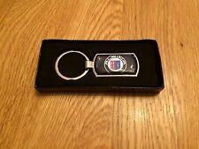 APLINA SERIES METALLIC CHROME CHUNKY KEYRING, BMW KEY RING, APLINA