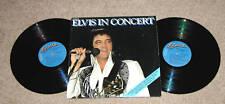 ROCK ELVIS PRESLEY 'ELVIS IN CONCERT' 2LP RECORD EXCELLENT