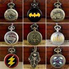 Chain Pendant Gift Quartz Movement Steampunk Retro Design Pocket Watch Necklace