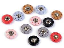 farbige 20 mm Ø Druckknöpfe, Druckknopf, Kunstoff mit Metallkern zum annähen