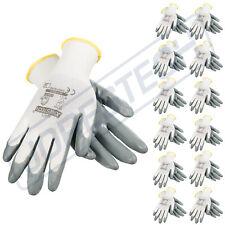 Grey Nitrile Dipped Poly Work Gloves ( 12 Pairs ) 1 Dozen JORESTECH