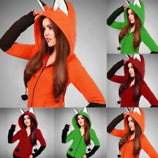 Pretty Fox Ears Hooded Sweatshirts Women Long Sleeve Coat Autumn Hoodie Jacket