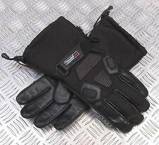 Leichter Winterhandschuh Leder-Textil schwarz