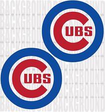 2 CHICAGO CUBS 11 x 11 inch Cornhole Decals LARGE Bean Bag Toss Sticker Baggo