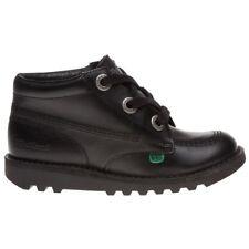Kickers Kick Hi Phat Junior Black 3 eyelet lace up boots