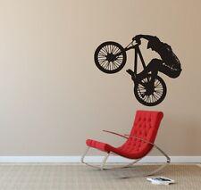 Wandaufkleber,Wandtattoo, Dirt Bike - Dirtbike - Fahrrad - Sprung - Sportmotiv