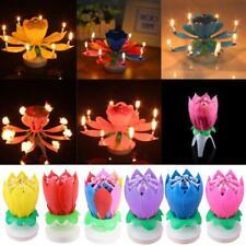 les bougies d'anniversaire belle fleur de lotus joyeux anniversaire musique EP