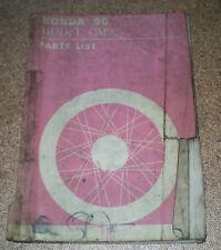 Parts Catalog / Parts List / Ersatzteilkatalog Honda Motorcycle CM 90 von 1965