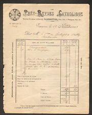 """PERPIGNAN (66) REVUE / PRESSE """"PRET-REVUES CATHOLIQUE"""" Abbé PARMENTIER en 1913"""