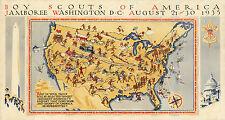 Pictorial Map of Boy Scouts America jamboree, Washington Wall Art Poster Decor