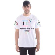 PyeongChang Winter Olympics 2018 American Flag Men's Sports Tee T-SHIRT RIA1