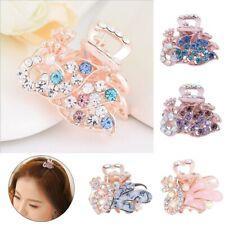 Fashion Jewelry Rhinestone Mini Hair Clip Claw Barrette Metal Crystal Hairpins