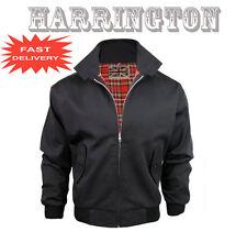 Nuevo Mens Classic Harrington Chaqueta De Bombardero Retro Mod Piel Scooter Navy vino negro