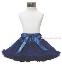 Sailor Navy Blue Kids Baby Girl Full Dance Tutu Dress Pettiskirt with Bow 1-8Y