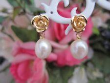 White Baroque Cultured Pearl Drop Earrings 1011 mm; 18K G.P.