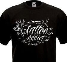 T-SHIRT TATTOO ADDICT - Tatouage Old School Culture Tatoueuse Hirondelles Ink