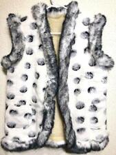 Womens Vest Jacket Coat Sleeveless Super Warm Sheepskin Sheep Wool Winter Soft