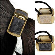 Capelli GOMMA QUADRATO marmo-LOOK TRECCIA Scrunchy coda di cavallo ANELLO PER CAPELLI HAIR