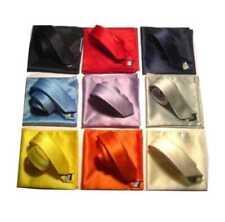Completo cravatta e pochette slim tanti colori tinta unita made italy in 24 ore