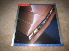 1987 Chevrolet Cavalier Z24 RS convertible sales brochure dealer literature