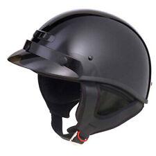 GMAX GM35S 35F Full Dressed 1/2 Helmet Black