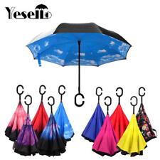 ** parapluie inversé anti uv vent pluie parasol a double couche inversé **