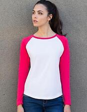Damen Long Sleeved Baseball T-Shirt   SF Women