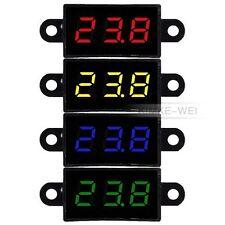 Wasserdicht DC 3,5-30V Digital Voltmeter Spannungsmesser Voltanzeige Panelmeter