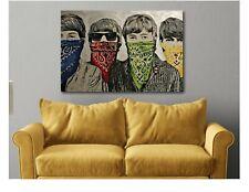 Banksy Beatles - Bandanas - Graffiti Canvas Wall Art