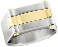 Dolan Bullock Riviera Stainless Stl  18k gold  ring nrg010600d msrp $325