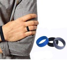 3PCS/Set Men Women Wedding Ring Rubber Silicone Band Active Sports Gym