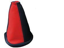 FITS RENAULT MEGANE LEATHER GEAR GAITER 95-02 RED BLACK