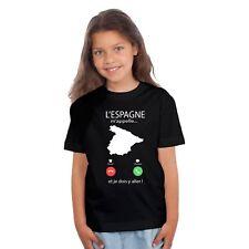 T-shirt ENFANT FILLE L'ESPAGNE M'APPELLE...