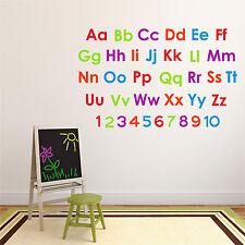 ALPHABET LETTERS Wall Sticker Learning Girls Boys Bedroom Nursery  55mm * 75mm