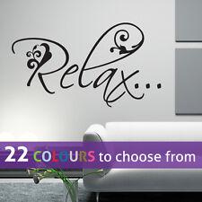 Relax Autocollant Mural Art Décalque Ongle Cheveux Salon De Beauté Spa, Salon Chambre Salle De Bain