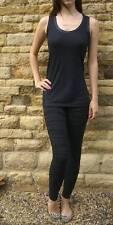 NEW  Raw edge satin trimmed vest Top    Shop Price £14...  210 gsm