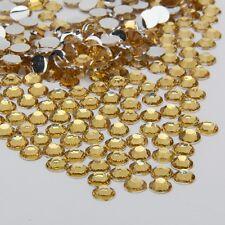 1440 2mm Gold Crystal Nail Art Round Rhinestone/Gems UV Gel, Acrylic, Manicure
