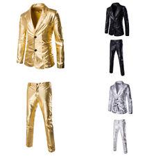 moda uomo strass costume giacca blazer TEATRO manica lunga LUCIDO MAGLIA+
