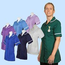 Healthcare Tunic Top 7 colours Sizes 8-32 - Nurse/Carer/Dental Uniform