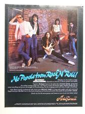 vintage magazine advert 1984 ARIA PRO / ALCATRAZ