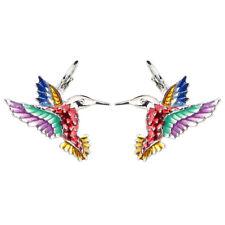 Fashion Hummingbird Eagle Earring Stud French Clip Enamel Jewelry For Women Gift