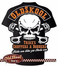 Oldskool Chopper Bobber Classic Biker BSA Vintage AJS Trike Indian T Shirt S-5XL